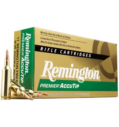 Munición metálica REMINGTON PREMIER ACCUTIP-V - 222 Rem. - 50 grains