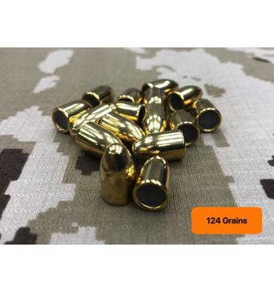 Puntas Alsa Pro 9mm 124 gr FMJ 500 Und.